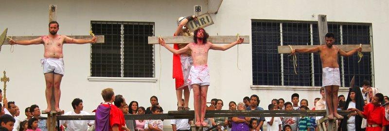 Crucifixion tableau