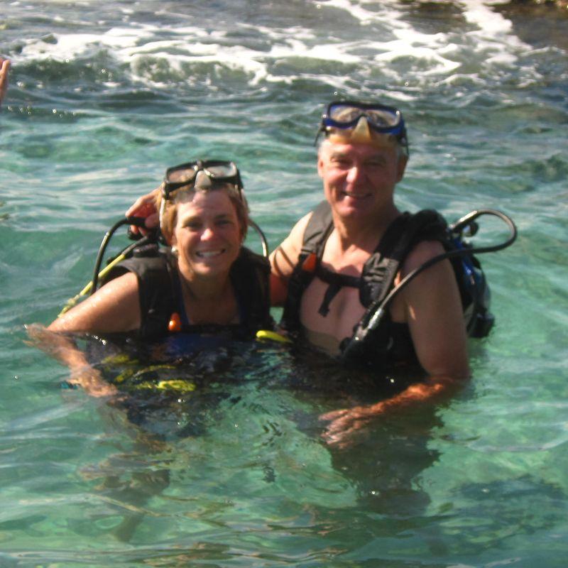 Tracy & me scuba